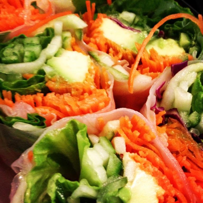 rolls de vegetales