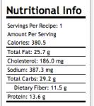 nut fact sandw huevo veg